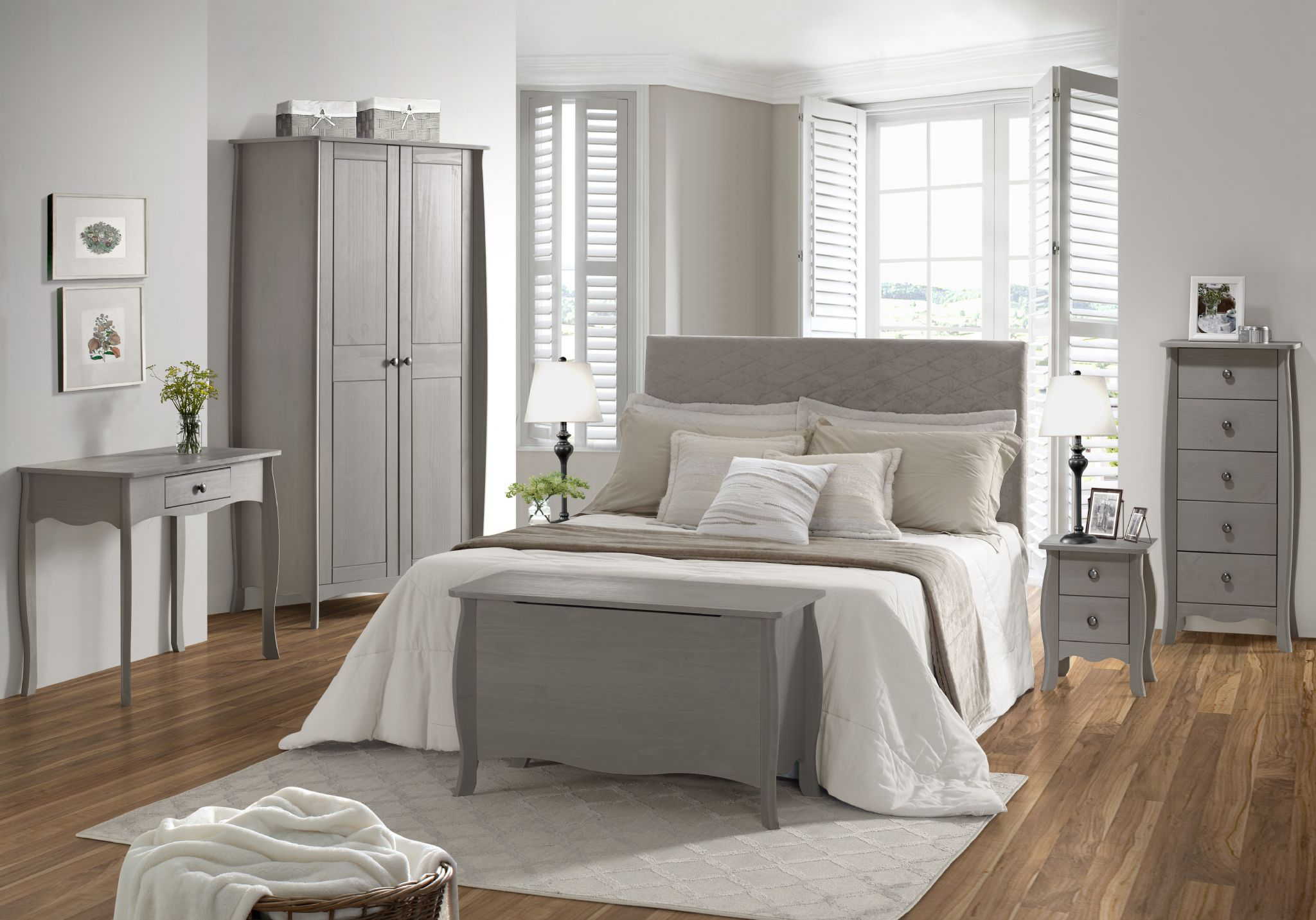 . Provence 5 Drawer Narrow Bedroom Chest